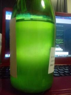 「金亀」茶70%純米 オリジナル薄にごり