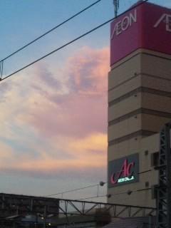 イオン色の夕焼け雲