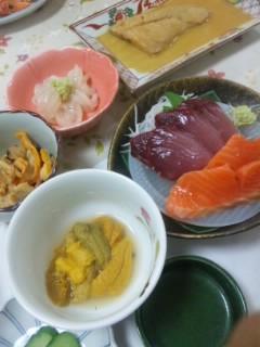 小川旅館の夕食