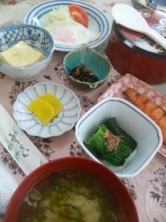 小川旅館の朝食