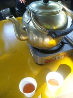 近江牛おにぎりと黒文字茶