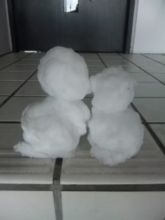 昨日の雪だるま