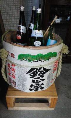 朝市のお酒選び 矢尾酒造