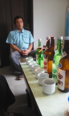 「神開」今月の朝市お酒選び