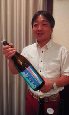 かどや酒店試飲会の蔵元さん画像