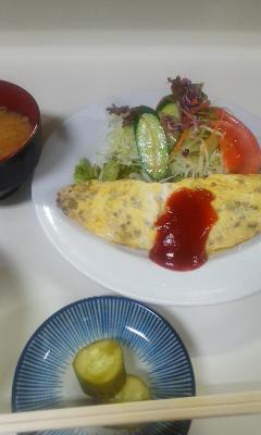 アケミ オムレツ定食