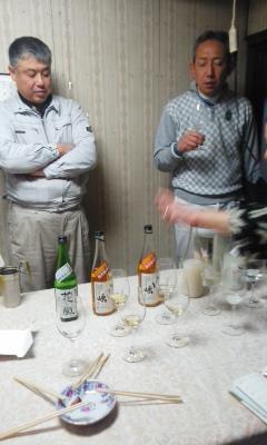吉田酒造で朝市のお酒選び