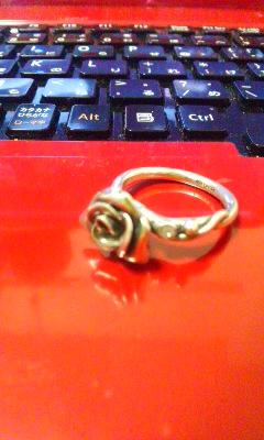 薔薇のシルバーリング