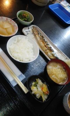 からっ風 焼き秋刀魚定食