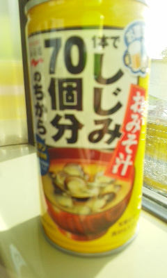 モーニング味噌汁缶