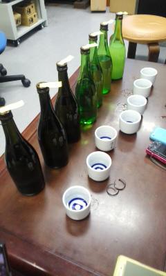 浪の音酒造で朝市のお酒選び