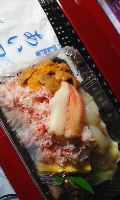 北海道物産展の海鮮弁当と餃子