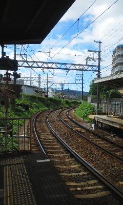 京阪電車に乗って