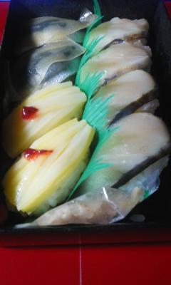 岡山の名物3種にぎり寿司