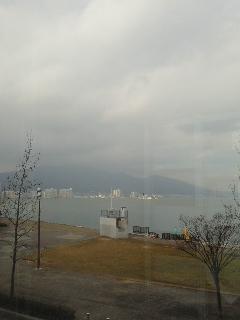 琵琶湖のほとりへ出張