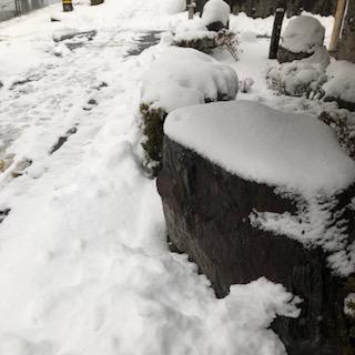 雪の日のきつねうどん