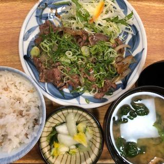 牛タンネギ炒め定食