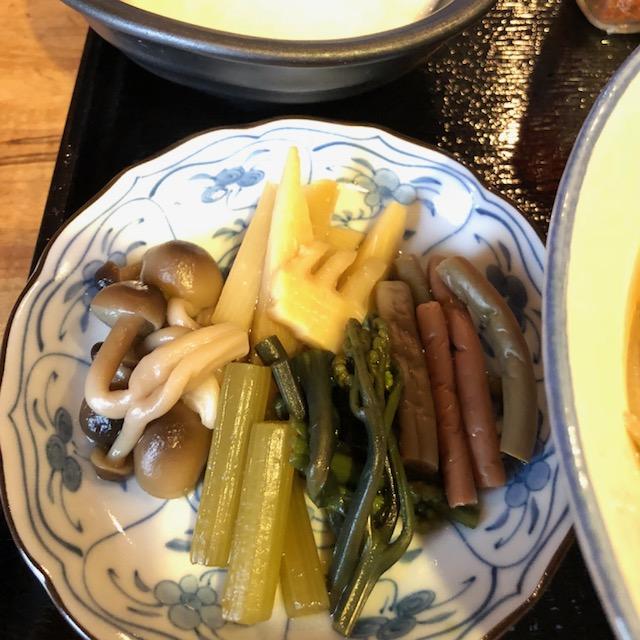 山菜&とろろ蕎麦定食